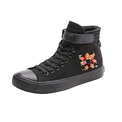 Alta De Bts Caballero Black13 Lona Ocasionales Zapatos Spring Ayuda Lazada Transpirables frXI4qX