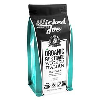 Wicked Joe Organic Coffee Wicked Italian Ground, 12 Ounce