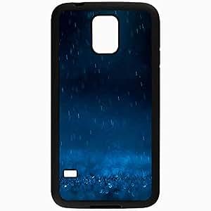 Unique Design Fashion Protective Back Cover For Samsung Galaxy S5 Case Blue Rain Nature Black