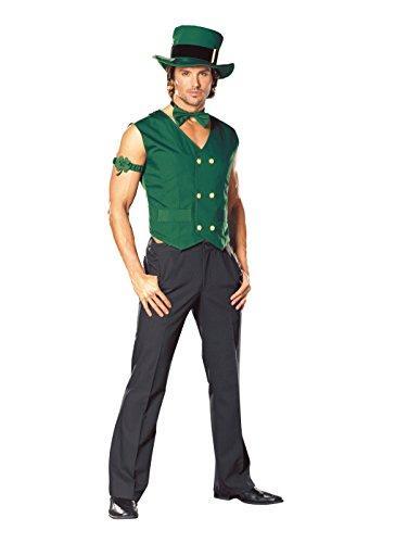 Dreamgirl Costumes Mens Get Lucky Leprechaun, Green, XX-Large