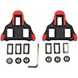 hothuimin Bike Cleats Self-Locking Road Cycling Bicycle Cleat Set Compatible with Shimano&Look