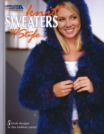 Knit Sweaters With Style - 5 Fresh Designs in Fun Fashion Yarns by LEISURE ARTS (Image #1)