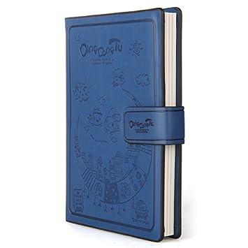 Libreta Agenda Cuaderno Apuntes Diario Cuero Azul Cierre ...
