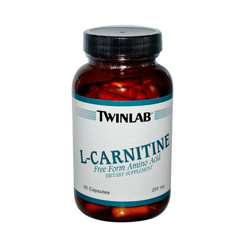 Twinlab L-Carnitine - 250 mg - 90 Capsules - Free Form Amino Acid - Easier to Swallow and Assimilate - Gluten Free