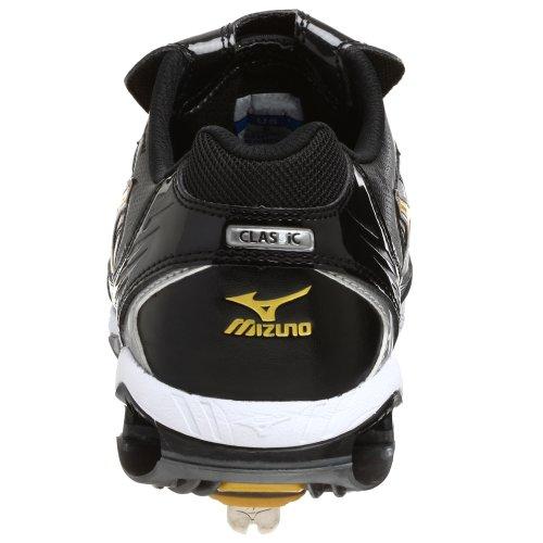 Mizuno Herren 9 Spike Classic G5 Low Baseballschuh Schwarzes Gold