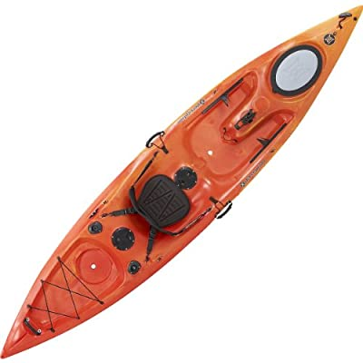 93577034 Perception Sport Caster Angler Kayak, Red/Yellow by Perception Sport