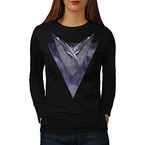 Dolphin Long Sleeve Tee (Two Dolphin Triangle Women NEW L Long Sleeve T-shirt |)