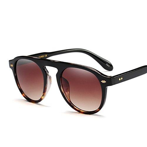 Protection Cadre stylées noir Mode Homme rond soleil Unisex Feicuan Femme de Lunettes 5 Lunettes F pour UV400 q61wHxp