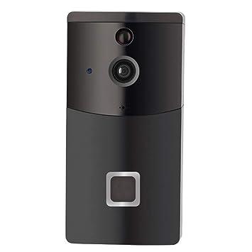 ZUEN Smart Video doorbell Wireless Home WiFi Cámara de Seguridad con Timbre Interior, cámara de Seguridad 720p Control de Aplicaciones para iOS Android ...