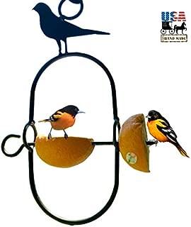 product image for Saving Shepherd Oriole Orange Feeder - Wrought Iron Bird Perch Hand Forged by Amish Blacksmith Lancaster Pennsylvania USA
