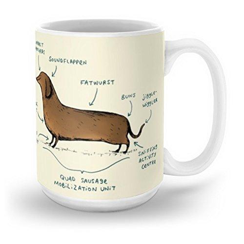 Society6 Anatomy Of A Dachshund Mug 15 - Dachshund Mug