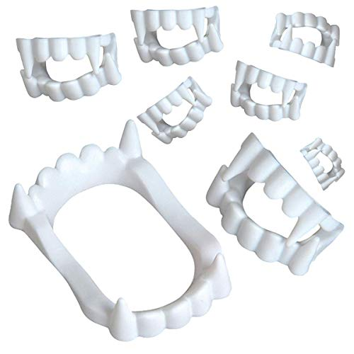 Kicko Vampire Teeth - Vampire Fangs - 144 Pieces of White Plastic Teeth - Perfect for Halloween, Costume Accessories, Novelties, Pretend Play, Party Favor, and -