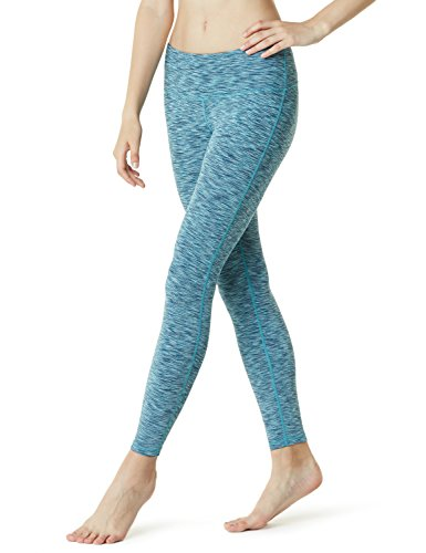TSLA Women's Mid/High-Waist Tummy Control w Hidden/Side Pocket Yoga Pants