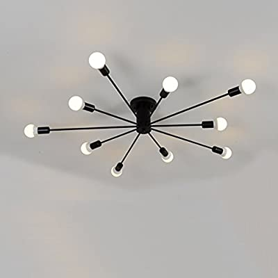 Aero Snail Modern Flush Mount Living Room Ceiling Light Fixture