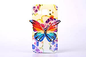 G360 Case,Galaxy G360 Case,Samsung G360 Case,Galaxy G360 TPU Case,Samsung Galaxy G360 Case,Samsung Galaxy Core Prime G360 Case,Creativecase G360 Galaxy G360 Case with Butterfly Pattern TPU Soft Back Design Cover for Samsung Galaxy Core Prime G360-10