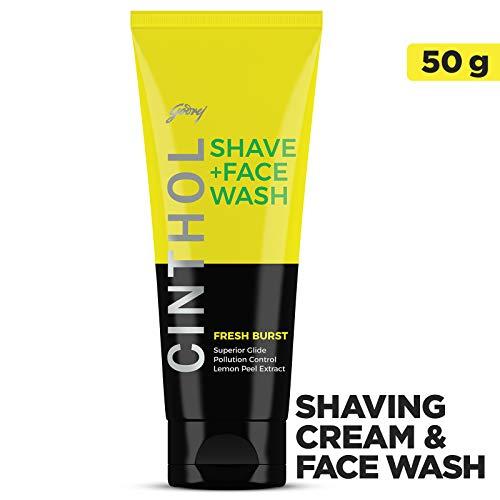 暴力的な忌避剤枠Cinthol Fresh Burst Shaving + Face Wash, 50g