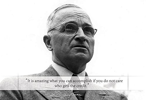 WeSellPhotos Harry S Truman Poster Photo Picture Framed Quote It is amazing what you can accomplish. US President Portrait Famous Inspirational Motivational Quotes (13x19 Unframed Poster)