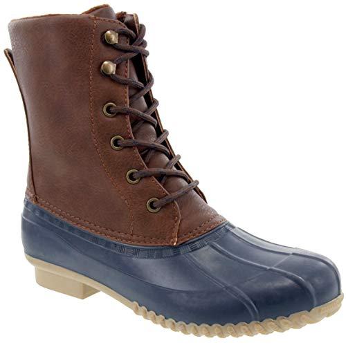 London Fog Womens Wonder Cold Weather Duck Boot Navy 7 M US (Best Enduro Boots 2019)