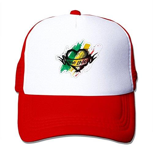 Adjustable Trucker Baseball Hat Red ()