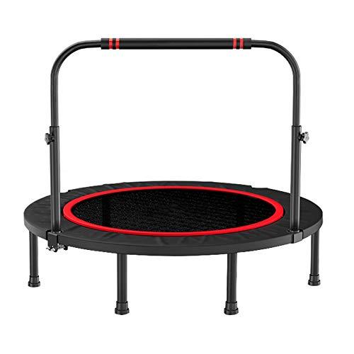 調節可能な手すりが付いている40/48インチのスポーツの適性のトランポリンのRebounder、屋内および庭/体育館/適性のトランポリンのための、容量:300kg Φ:48″  B07RW67XPG