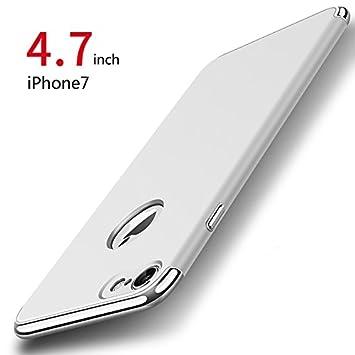 Funda iPhone 7, PRO-ELEC Carcasa iPhone 7 con [ Protector de Pantalla de Vidrio Templado ] 3 en 1 Desmontable Ultra-Delgado Anti-Arañazos iPhone 7 ...