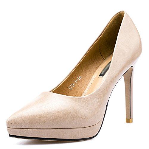 Lady Beige Cómodo Beige De con OL Punta Red Zapatos Classic Pumps Estilete Noche Negro Ladys Zapatos rq1wZr