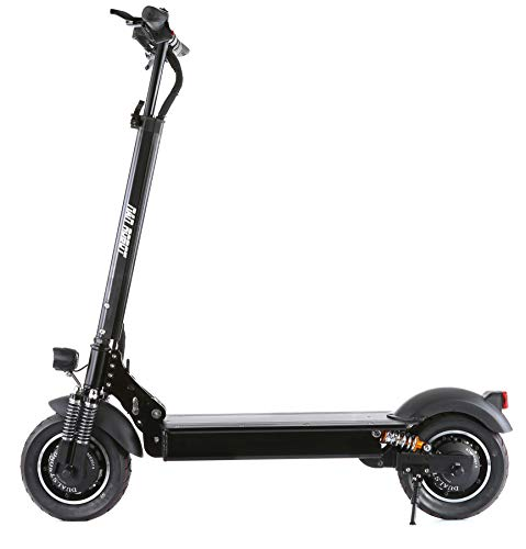 NANROBOT D4+High Speed Electric Scooter -Portable Folding, 40 MPH and 45 Mile Range of Riding, 2000W Motor Power and 330lb Load (Black)