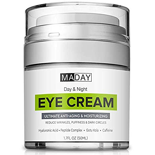 Eye Cream - Reduce Dark Circles, Puffiness & Under Eye Bags - Effective Anti-Wrinkles Treatment - Anti-Aging Eye Gel with Hyaluronic Acid, Gotu Kola Extract, Caffeine - Refreshing Eye Serum (The Best Eye Serum For Dark Circles)
