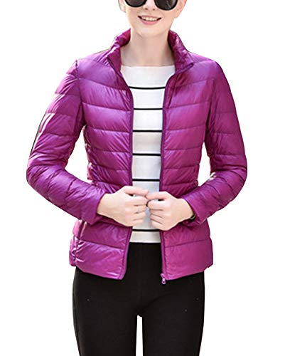 Ultra Red Winter Women's Jacket Light Packable Purple Coat Puffer GladiolusA qaTwBvw