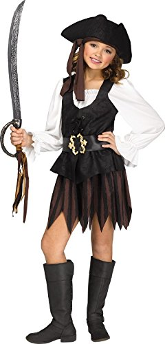 Fun World Big Girl's Large/Rustic Pirate Maiden Children's Costume, Multicolor, Large -
