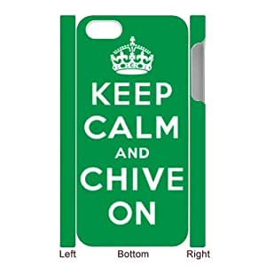 Custom Your Own Personalised Hard Keep Calm And Chive On iPhone 5 Cover, Snap On Keep Calm And Chive On iPhone 5 Case
