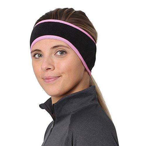 TrailHeads Women's Ponytail Headband - Black/Fast Pink