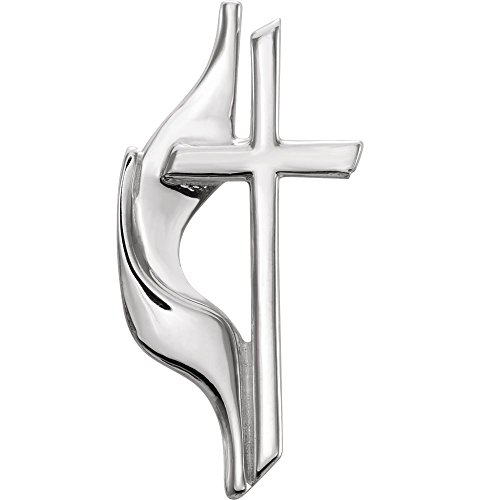 Bonyak Jewelry Methodist Cross Lapel Pin in Sterling -