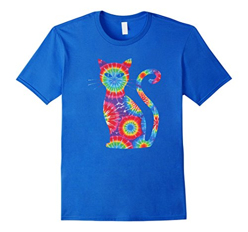Mens Halloween Cat Meow T Shirt Tie Dye Shirt Costume Small Royal Blue