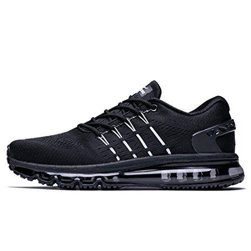 Especial De Hombre Onemix Y Diseño Zapatillas Aire Zapatillas Negro Deporte Lengüeta Transpirable Correr para Malla Ligeras De De De con gXUqXR