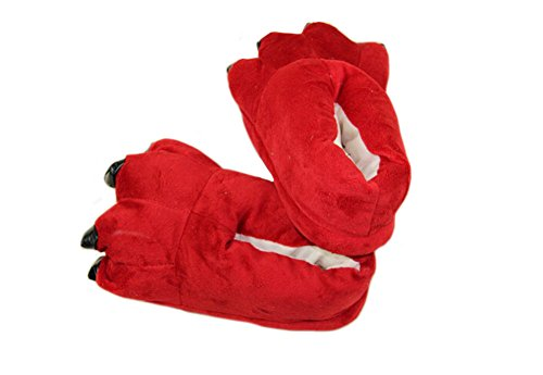 Tortor 1Bacha Kid Adult Women Men Plush Home Animal Costume Paw Claw Shoes Red lQwA2tn