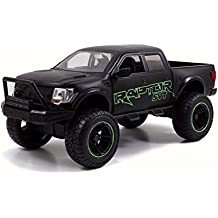 2011 Ford F-150 SVT Raptor Pickup, Green Detail - JADA 97479 - 1/24 Scale Diecast Model Toy Car