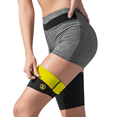 Hot Shapers Hot Leg Sleeves - Women's Body, Thigh and Hamstring Slimmer - Enhancer for Weight Loss Workouts and Sweat Sessions - Compression Sleeve - Suit - Band (Black, 2XL)