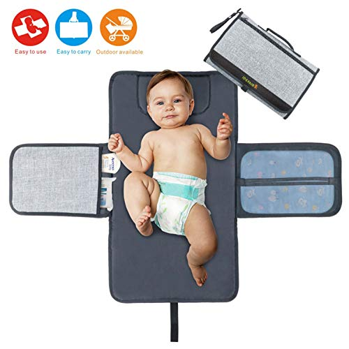 Idefair Baby Changing Pad, Portable Diaper Changing Pad (Diaper Changing Mat)