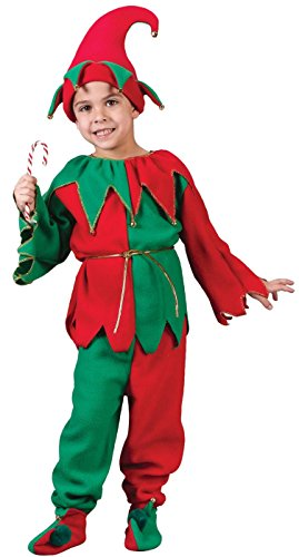 Elf Infant Costumes (Fun World Costumes Baby Child Elf Costume, Red/Green, Medium)