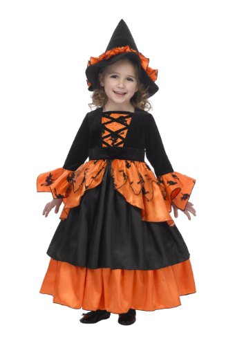 Pumpkin Witch Fairy Costume with Hoop and Hat