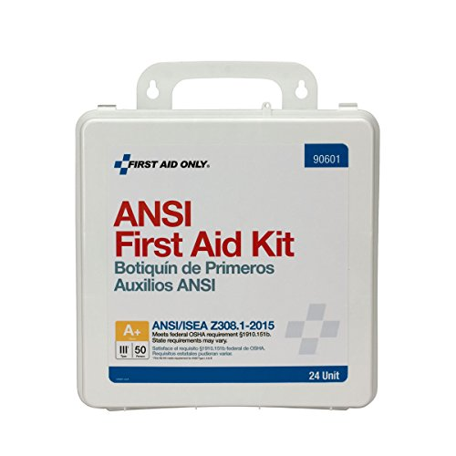 Pac-Kit by First Aid Only 90601 24 Unit ANSI A+ First Aid Kit, Plastic, Weatherproof
