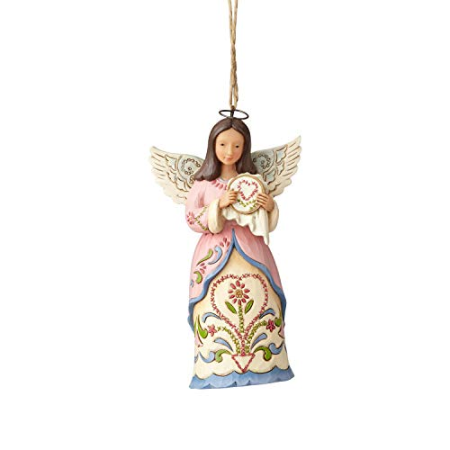 "Enesco Jim Shore Heartwood Creek Sewing Angel Hanging Ornament 4.5"" Multicolor"