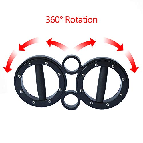 CHEERGO 8 Pounds Multifunctional Hand and Forearm Trainer - Spinning Burn Muscle Training - 360 Degree Rotating Grips - Black by CHEERGO (Image #5)