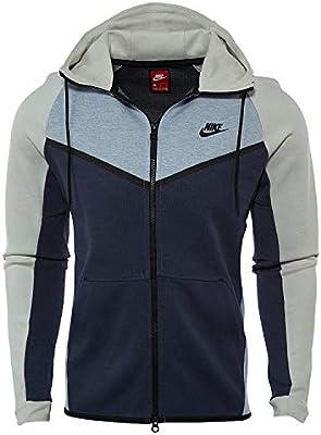 Enlace huella Stevenson  Nike 885904-473 Men M NSW TCH FLC WR Hoodie FZ CB Obsidian Heather Black  X-Large gray: Buy Online at Best Price in UAE - Amazon.ae