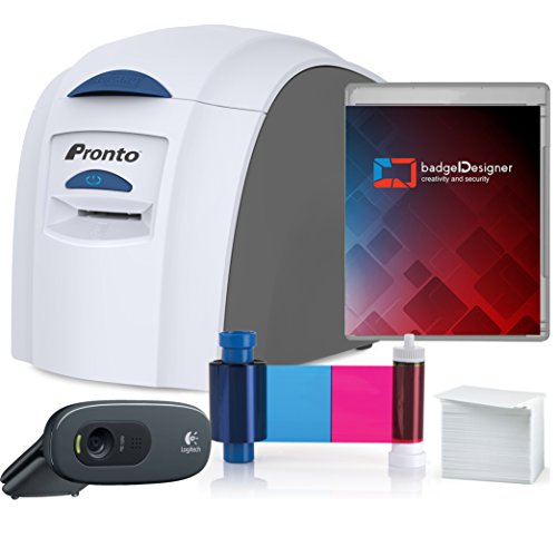 Magicard Pronto Id Card Printer   Complete Supplies Package With Badgedesigner Id Software W Camera