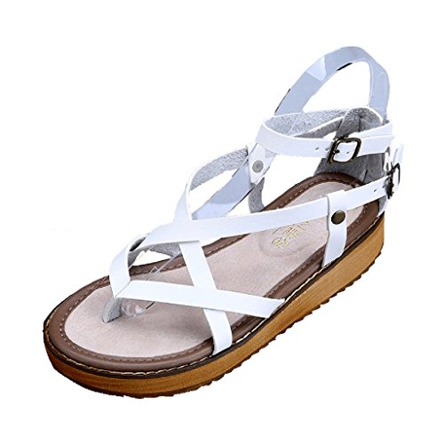 Dear Time Women Creepers Thick Sole Sandals White 2tmfZD48