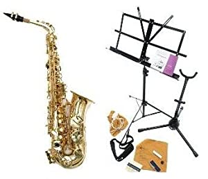 Carmichael Evolution Alto Saxophone with Reeds, Sling, Stand, Care Kit Etc