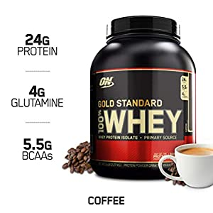 Optimum Nutrition Gold Standard 100% Whey Protein Powder, Coffee, 5 Pound (Packaging May Vary)
