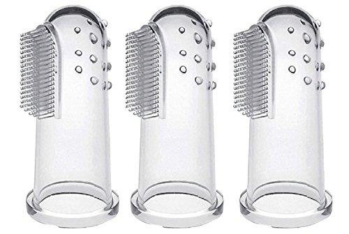 CalMyotis® Baby Zahnbürste Fingerzahnbürste inkl. Aufbewahrungsbox - für Zähneputzen und Zahnfleischmassage (3 Stück)